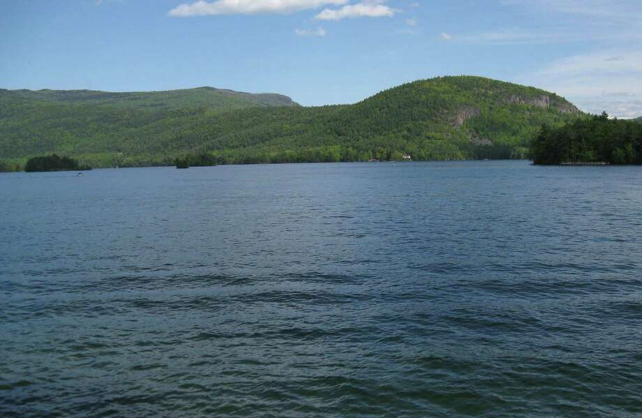 Sleeping Beauty and Shelving Rock as seen from Montcalm Point on Lake George. (Herb Terns/Times Union) Photo: Picasa