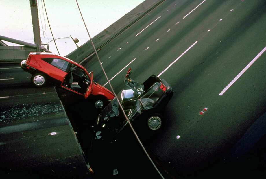 1989: A portion of the San Francisco-Oakland Bay Bridge's upper deck collapsed in the Loma Prieta earthquake, killing 1. Photo: Chuck Nacke, File / Chuck Nacke