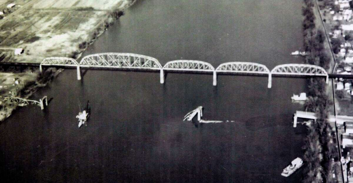1967: The Silver Bridge between Point Pleasant, W.Va. and Gallipolis, Oh. collapsed because of metal corrosion, killing 46.