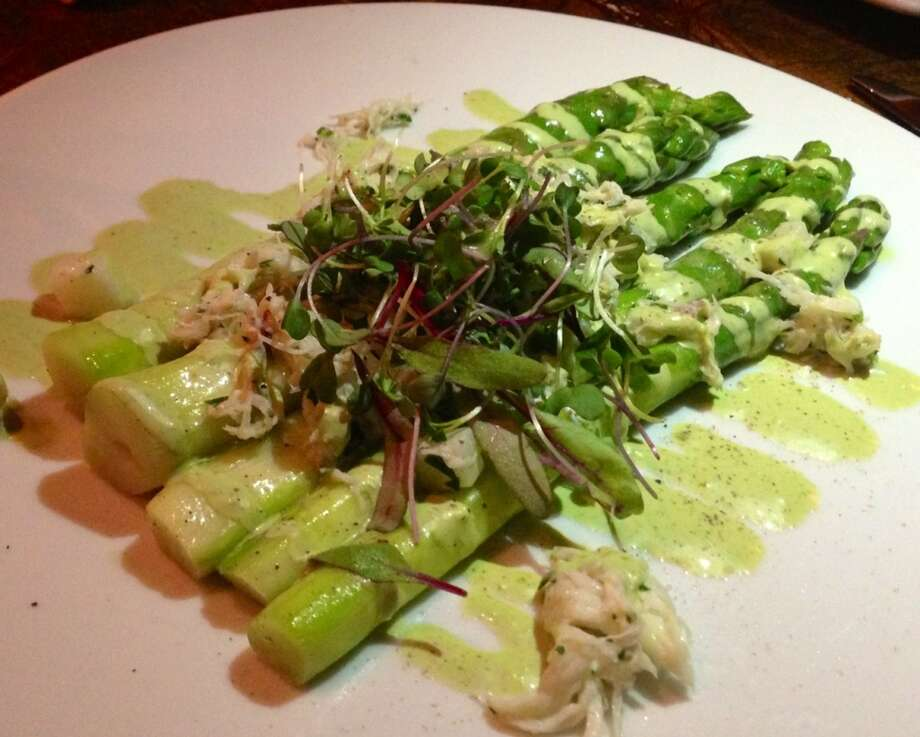 Asparagus with Green Goddess dressing at Bin 38