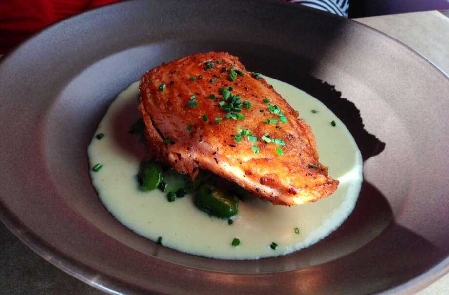 Salmon on buttered cucumbers at Sir & Star