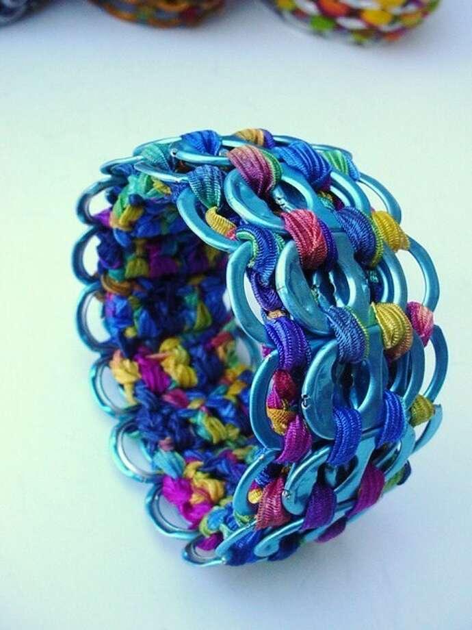 A colorful bracelet