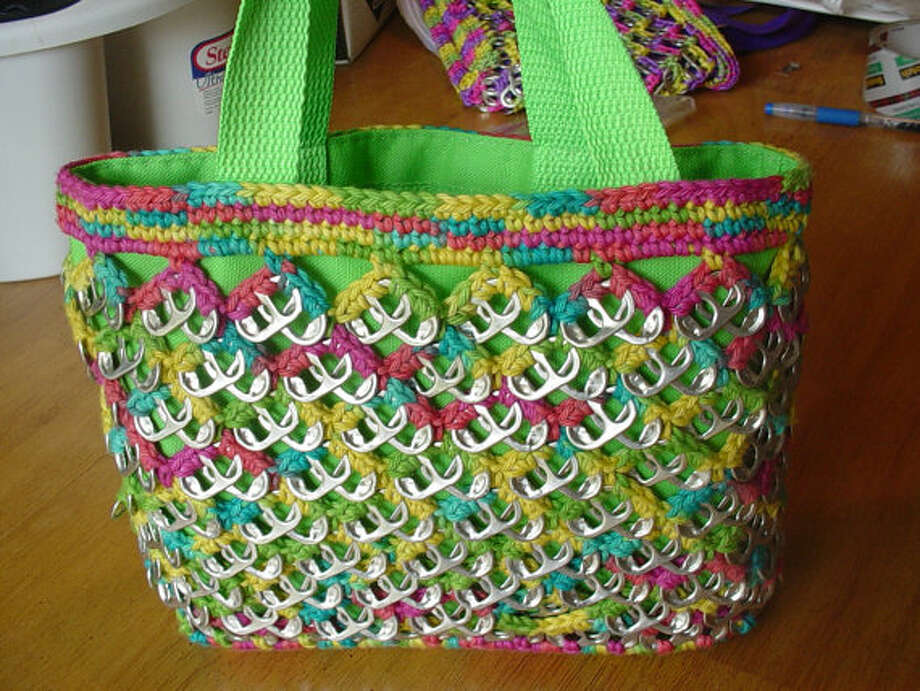 A colorful handbag