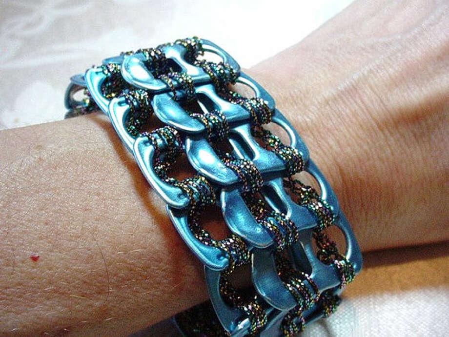 Shiny blue bracelet