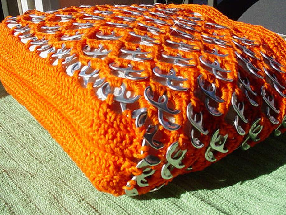 Bright orange tote