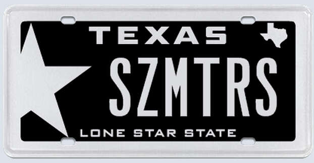 """What the applicant said: """"SZMTRS refers to the size of the car. It should also be noted that I have had this license plate for over 10 years."""" Photo: MyPlates.com"""