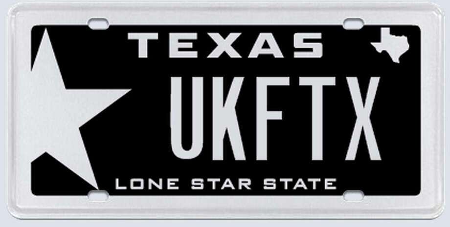 "What the applicant said:""The reason that i requested this license plate is that I am opening a martial arts school in The Woodlands. The martial arts organization that I study is the Universal Kenpo Federation."" Photo: MyPlates.com"