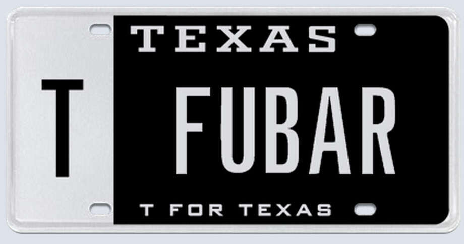 "What the applicant said: ""I am opening a restaurant/bar in the Houston Heights called FUBAR. It has a military theme and we will offer food and beverage discounts to all active military personnel."" Photo: MyPlates.com"