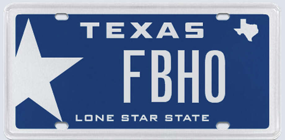 This plate was rejected by the Texas Department of Motor Vehicles in April 2013. Photo: MyPlates.com