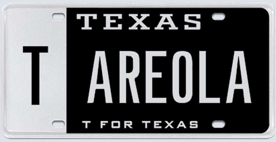 "What the applicant said: ""My spouse's name is (redacted) therefore I requested Areola. I would prefer to have the Cowboys' star and Areola if at all possible."" Photo: MyPlates.com"
