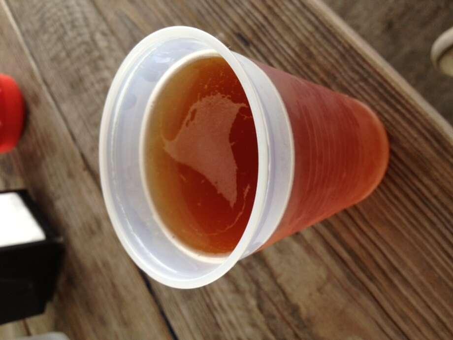 Adelbert's Tripel P Belgian-style ale on tap at Moon Tower Inn.