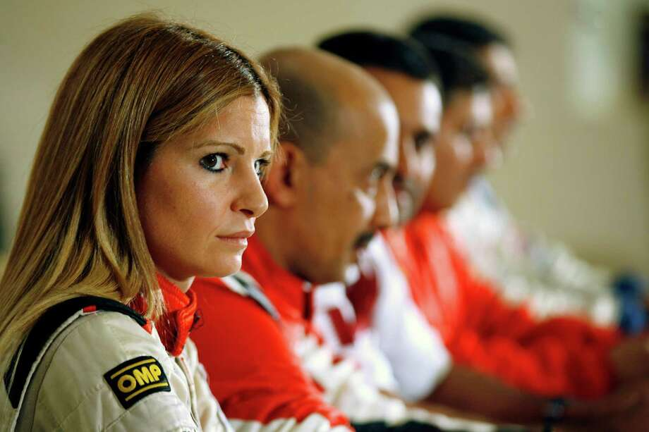 Burcu Cetinkaya is a Turkish rally driver. Photo: YASSER AL-ZAYYAT, Getty Images / 2012 AFP