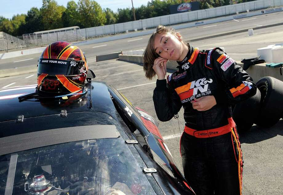 Caitlin Shaw competed in the NASCAR Whelen All-American series in 2009. Photo: Grant Halverson, Getty Images / 2008 Getty Images