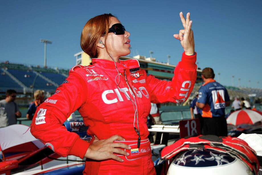 Milka Duno is a Venezuelan race car driver. She competed in the IndyCar series. Photo: Chris Graythen, Getty Images / 2010 Getty Images