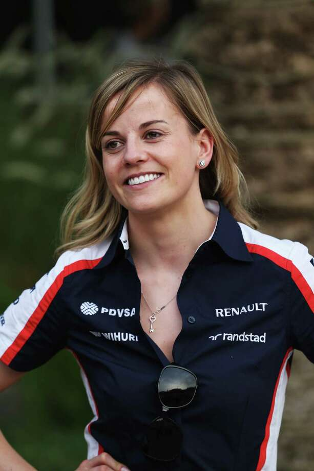 Susie Wolff is a Scottish racer who has competed in several racing series. She was signed by the Williams Formula One team to work as a development rider. Photo: Mark Thompson, Getty Images / 2013 Getty Images