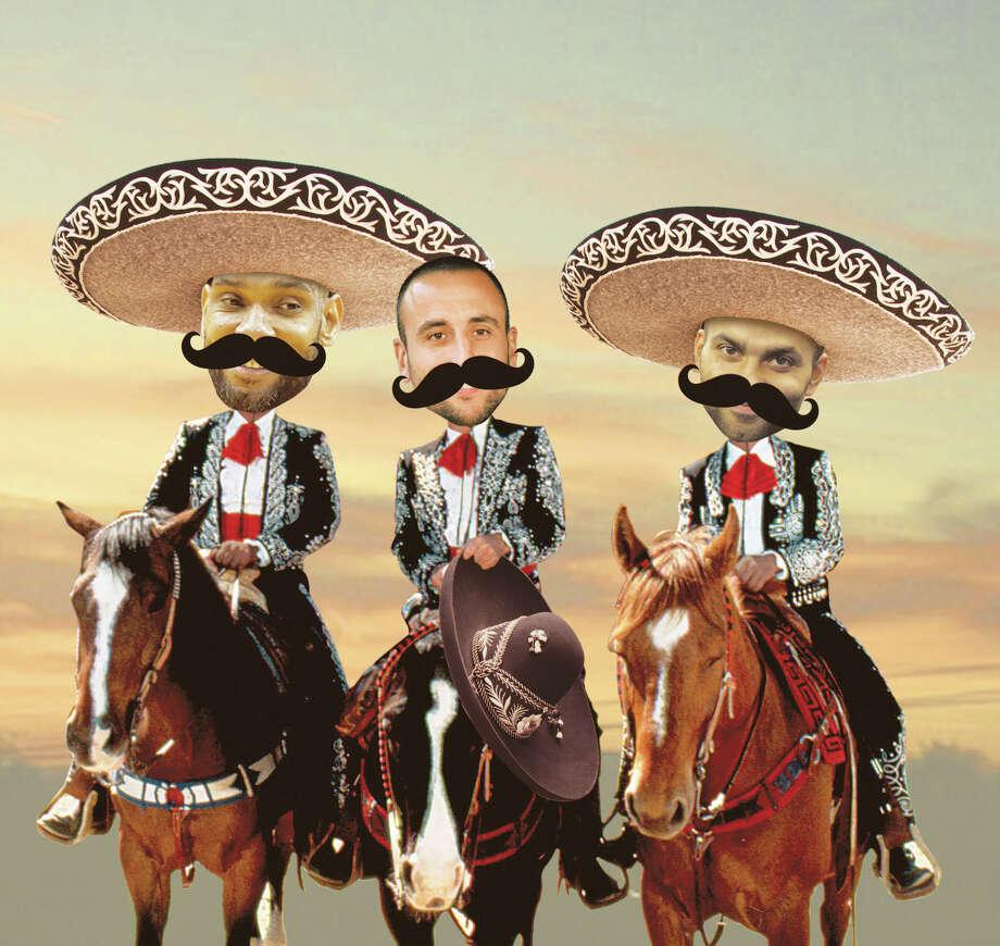Tim Duncan, Manu Ginobili and Tony Parker of the San Antonio Spurs. Photo: Photo Illustration By Imelda B. Robles, San Antonio Express-News