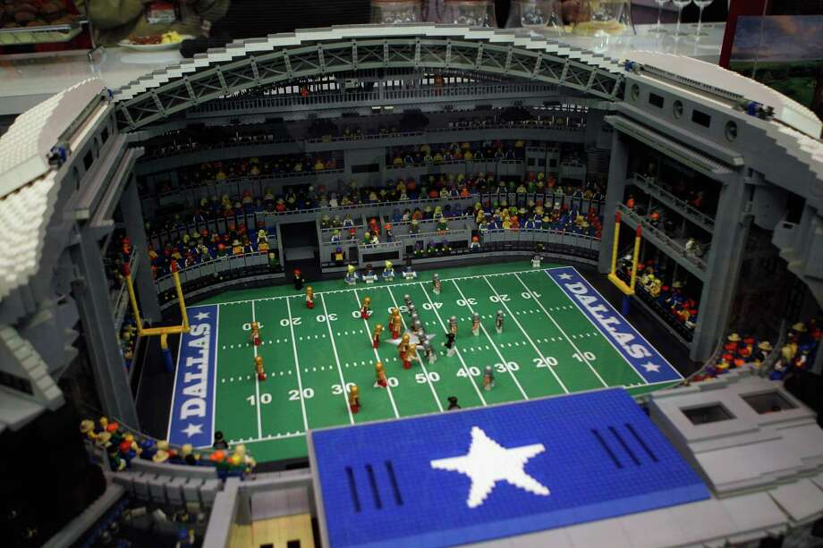 A Lego version of Cowboys Stadium is displayed February 2, 2011 in Dallas, Texas, before the Super Bowl in the real version between the Green Bay Packers and the Pittsburgh Steelers. Photo: Scott Halleran, Getty Images / 2011 Getty Images