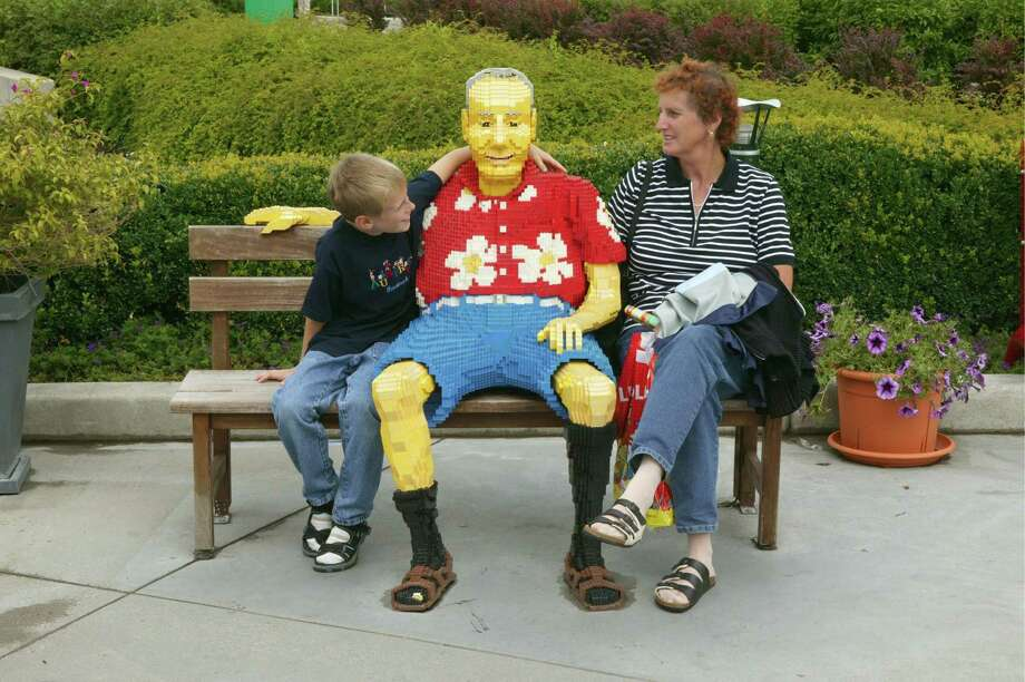 One drawback to a Lego vacation is dealing with the Lego tourists, such as this fellow at Legoland in Guenzburg. Photo: Ulrich Baumgarten, U. Baumgarten Via Getty Images / 2005 Ulrich Baumgarten