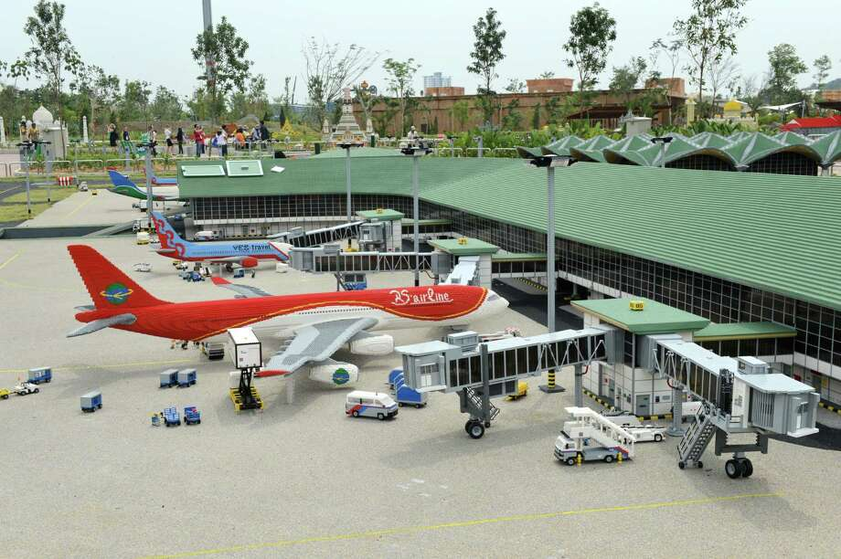 Of course, if you want to get anywhere in the Lego world, a good way to travel is on a Lego airplane. Here's a Lego version of Malaysia's KLIA airport at Malaysia's Legoland Park in Johor Bahru, shown on September 14, 2012. Photo: ROSLAN RAHMAN, AFP/Getty Images / 2012 AFP