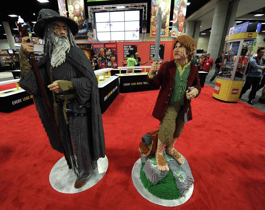 Back to fiction, and fantasy, with this Hobbit display at Comic-Con International 2012 on July 14, 2012 in San Diego. Photo: Albert L. Ortega, Getty Images / 2012 Albert L. Ortega