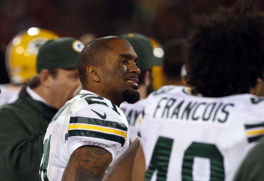 Charles Woodson watches from the sidelines in the final minutes of the fourth quarter. The San Francisco 49ers played the Green Bay Packers in the NFC Divisional Playoff Game at Candlestick Park in San Francisco, Calif., on Saturday, January 12, 2013.