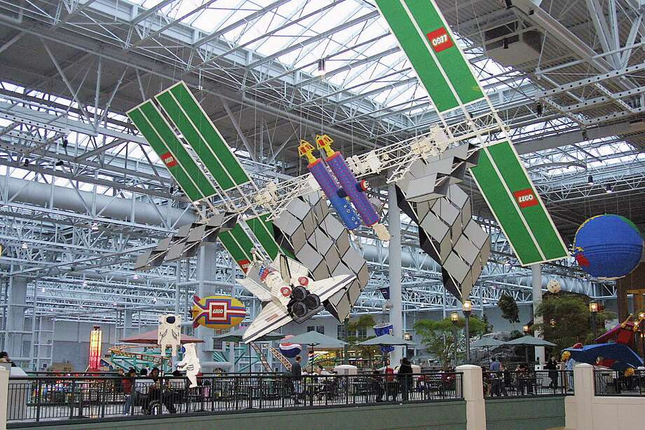 From science fiction to actual science, here's a Lego replica of the International Space Station, along with a space shuttle and astronauts, at the Mall of America in Bloomington, Minn., on December 29, 2004. Photo: KAREN BLEIER, AFP/Getty Images / 2005 AFP