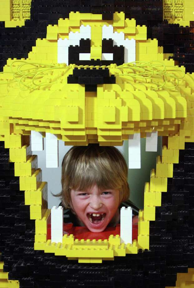 Travel the Lego world and you'll find exotic creatures, such as this Lego lion, shown on March 20, 2007 at the Legoland Discovery Center in Berlin. Photo: MARCUS BRANDT, AFP/Getty Images / 2007 AFP