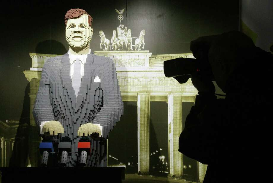 The Legoland Discovery Center in Berlin depicts former U.S. president John F. Kennedy's famous speech in front of the Brandenburg Gate on June 26, 1963. Photo: MARCUS BRANDT, AFP/Getty Images / 2007 AFP