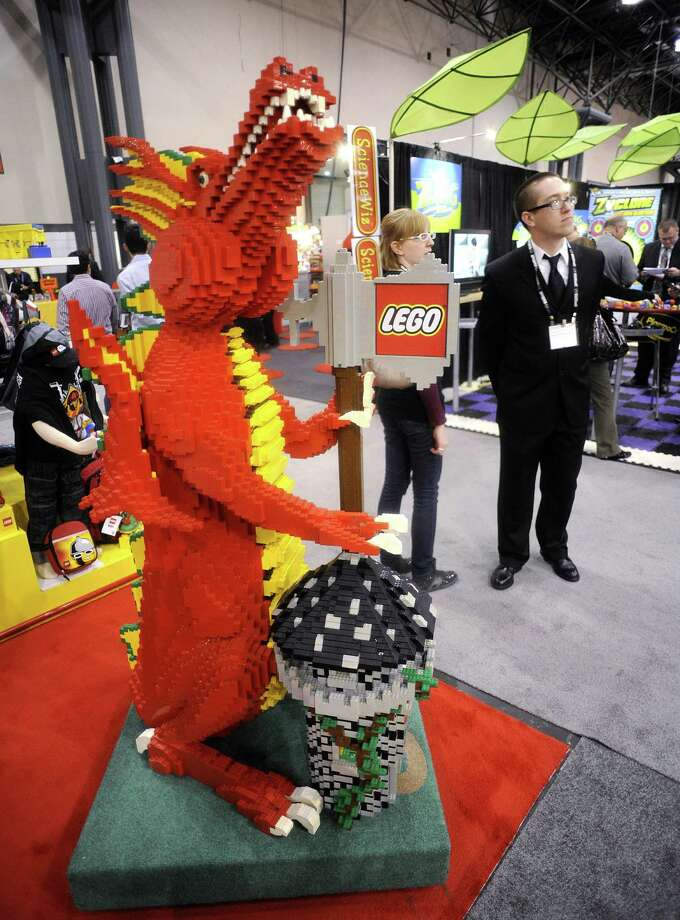 A Lego dragon holds forth at the annual Toy Fair, February 14, 2010 in New York. Photo: STAN HONDA, AFP/Getty Images / 2010 AFP