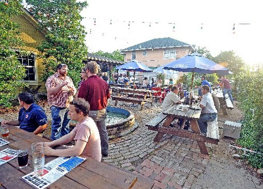 The patio at Luke's. cat5 file photo