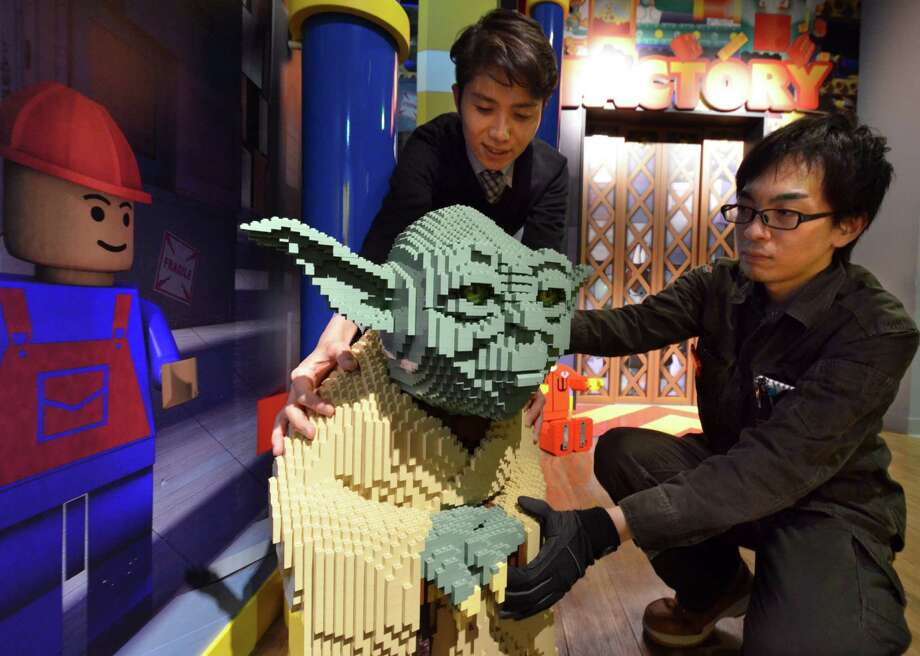 "Sticking with ""Star Wars,"" for now, here's Yoda on November 5, 2012 at the Legoland Discovery Center Tokyo. Photo: YOSHIKAZU TSUNO, AFP/Getty Images / AFP"