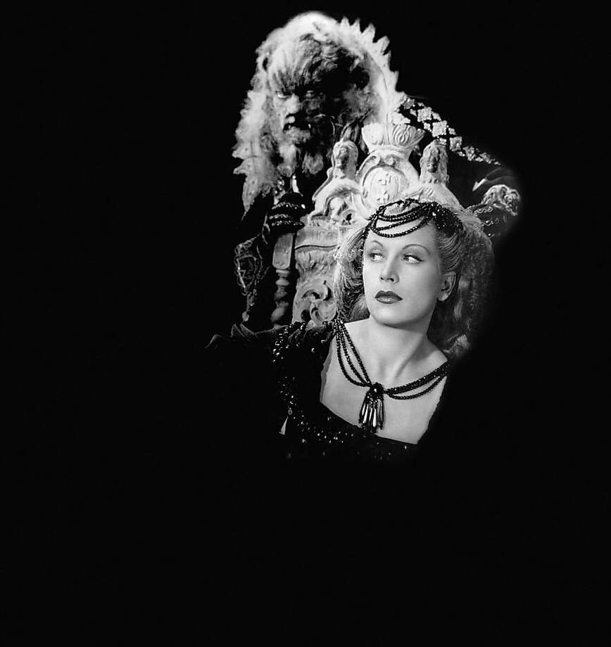 "Jean Marais (rear) and Josette Day in Jean Cocteau's 1946 film ""La Belle et la Bête."" Photo: SF Performances"