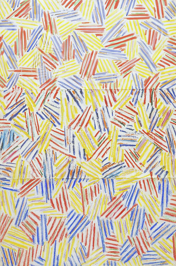 Among the works that will reside at the Menil Drawing Institute:  Jasper Johns Corpse 1974-1975 Paintstik, ink and pastel on paper 42 1/2 x 28 1/2 inches Photographer: George Hixson Credit Line: The Menil Collection, Houston, Bequest of David Whitney Art   Jasper Johns/Licensed by VAGA, New York, NY Photo: George Hixson
