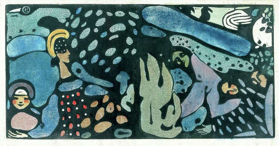 """See Wassily Kandinsky's """"The Green Women"""" June 8-Sept. 15 in """"Luminous: 50 Years of Collecting Prints and Drawings at the Blanton."""""""