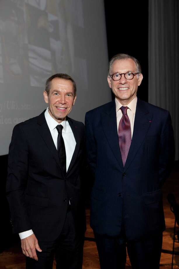 Artist Jeff Koons, left, and Museum of Fine Arts, Houston director Gary Tinterow shared ideas about Picasso. Photo: Jenny Antill
