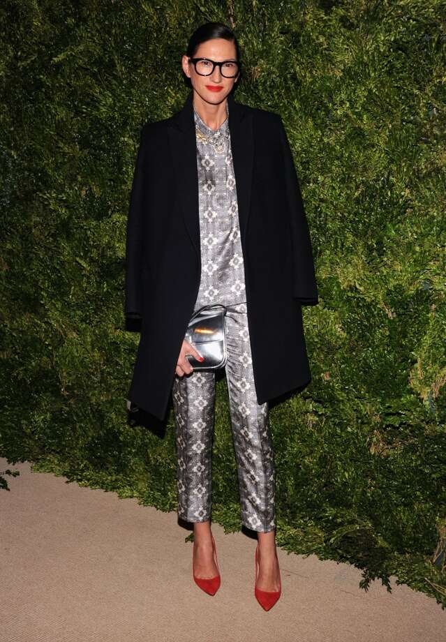 JCrew President and Creative Director Jenna Lyons' fashion often appears inspired by roomy  jammies. Here she is at The Ninth Annual CFDA/Vogue Fashion Fund Awards on November 13, 2012 in one such outfit.