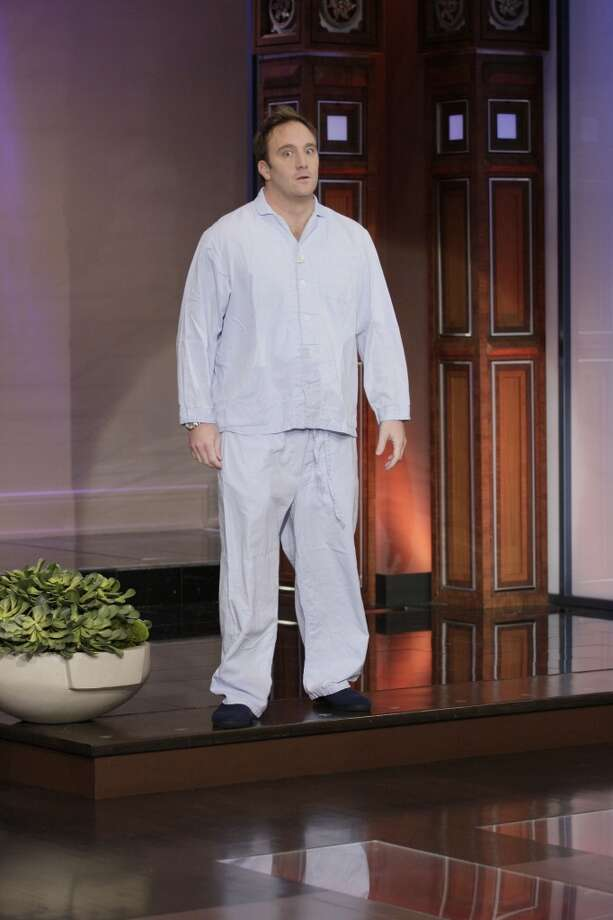 "Comedian Jay Mohr arrives on set during ""The Tonight Show with Jay Leno"" on November 29, 2011."