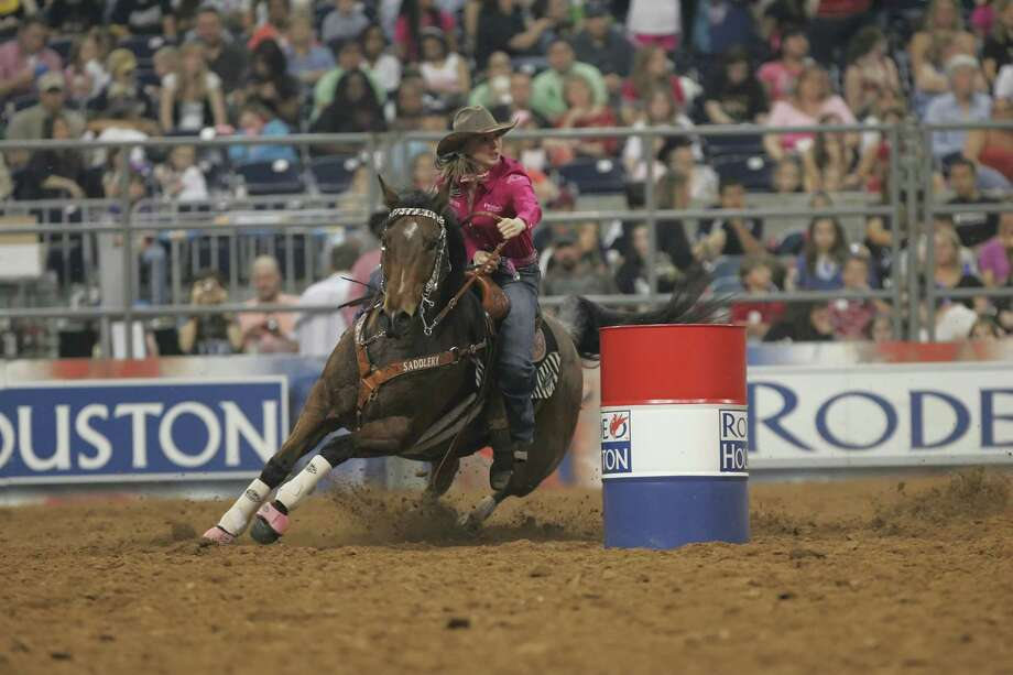 The Houston Livestock Show and Rodeo comes to Reliant Park every year and offers a wide variety of events, including barrel racing. / 2009 Matthew White