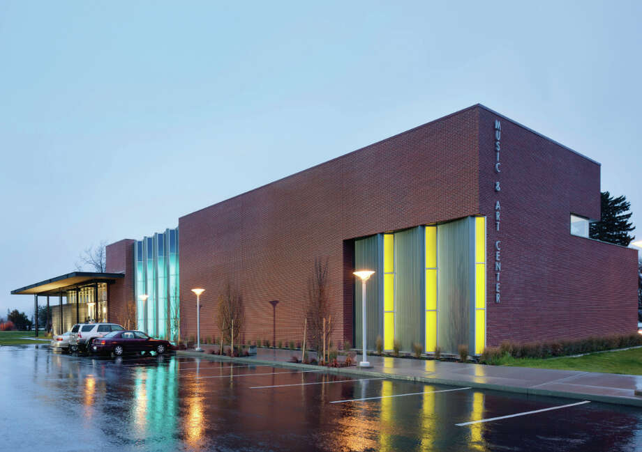 "The Music and Arts Center includes ""much-needed studio space for Art, and state-of-the-art, acoustically-designed rehearsal and performance space for Music,"" according to a project writeup. Photo: Integrus Architecture"