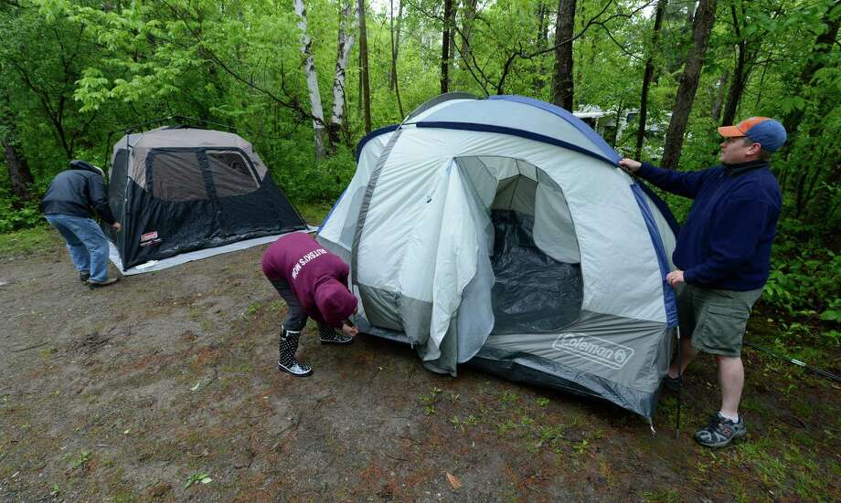 Don't let the cooler nights keep you indoors. Get out the tent, pack some warm clothes and hit the road to your favorite campground. There'll be fewer creepy-crawlies when it's chilly, right?(Skip Dickstein/Times Union) Photo: SKIP DICKSTEIN / 00022577A