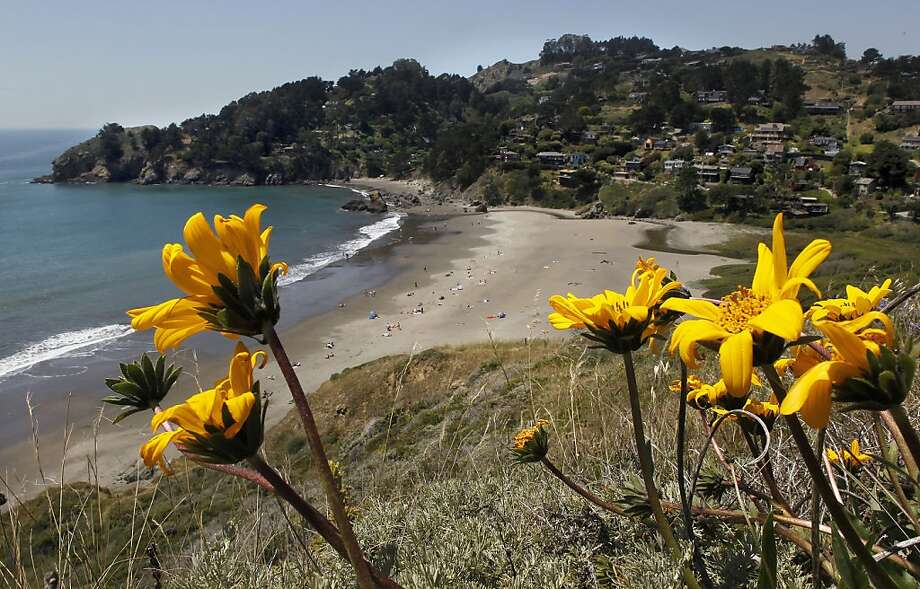 Muir Beach, with its quirky hillside housing colony and pretty little curve of sand, has suffered from its popularity and needs a bit of rehab. Photo: Michael Macor, The Chronicle