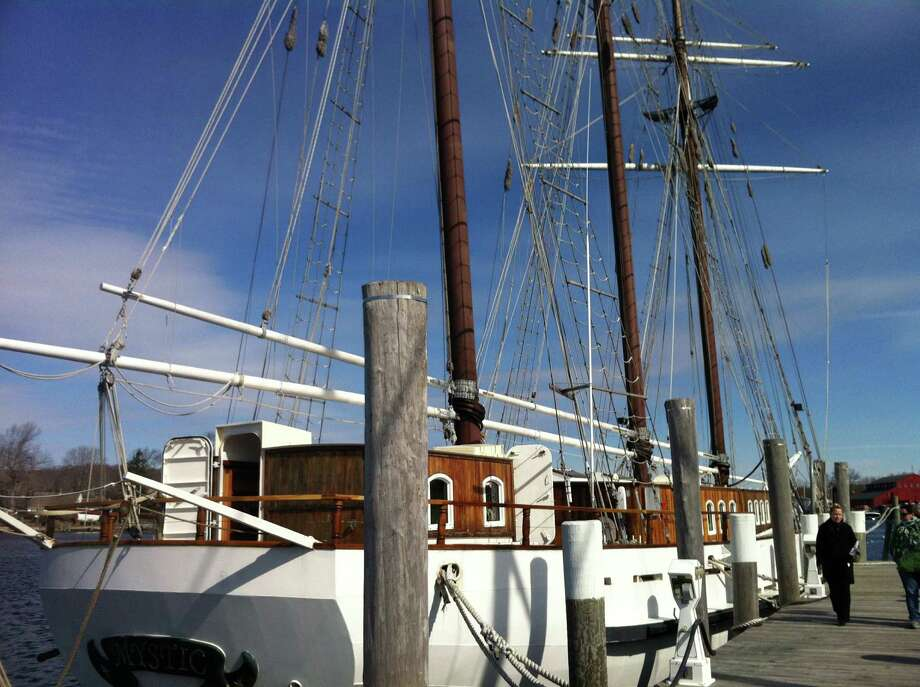 "The boat ""Mystic"",  is docked in Mystic, Conn. Chris German, executive director of Connecticut Community Boating in Bridgeport  is hoping to raise over $250,000 for a down payment to purchase the $1.8 million boat and keep it in Connecticut. Companies out of state have expressed interest. Photo: Keila Torres Ocasio / Connecticut Post"