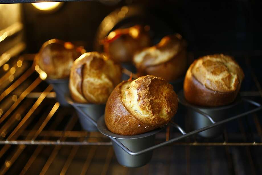 The author became obsessed with discovering what makes popovers airy and crispy so she mixed and matched different flours and milk with eggs to find out. Photo: Craig Lee, Special To The Chronicle