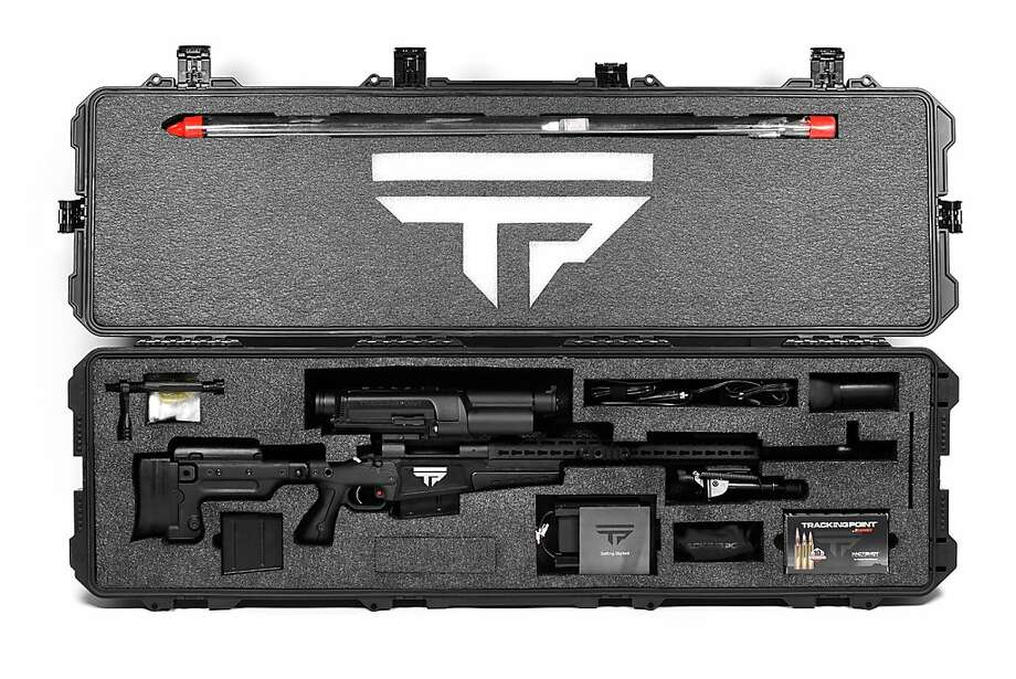 A long-distance rifle made by Texas startup TrackingPoint incorporates laser and computer technology. Photo: -, AFP/Getty Images
