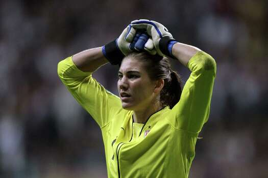 Hope Solo of the USA looks dejected after losing 3-5 after penalty shoot-out the FIFA Women's World Cup Final match between Japan and USA at the FIFA World Cup stadium Frankfurt on July 17, 2011, in Frankfurt am Main, Germany. Photo: Christof Koepsel, Getty Images / 2011 Getty Images