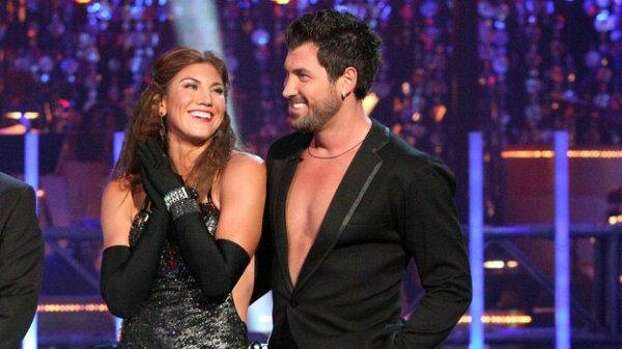 """Hope Solo and Maksim Chmerkovskiy dance the cha-cha for Round 3 of """"Dancing with the Stars."""" Photo: ABC Photo"""