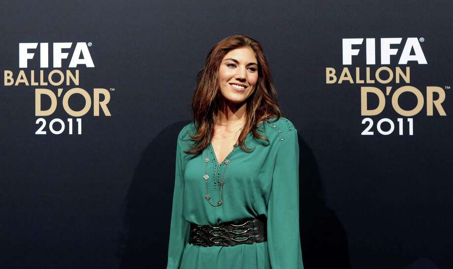 Hope Solo of USA during the red carpet arrivals for the FIFA Ballon d'Or Gala 2011 on Jan. 9, 2012, in Zurich, Switzerland. Photo: Scott Heavey, Getty Images / 2012 Getty Images
