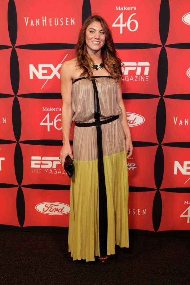 "Soccer player Hope Solo attends ESPN The Magazine's ""NEXT"" Event on Feb/ 3, 2012, in Indianapolis, Indiana. Photo: Robin Marchant, Getty Images For ESPN / 2012 Getty Images"