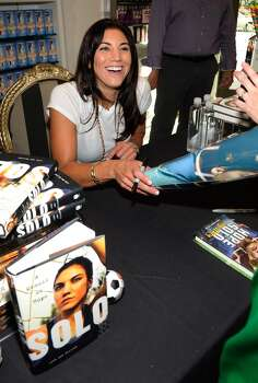 Olympic soccer player Hope Solo attends a her book signing at the Sugar Factory at the Paris Las Vegas on September 28, 2012 in Las Vegas, Nevada. Photo: David Becker, WireImage