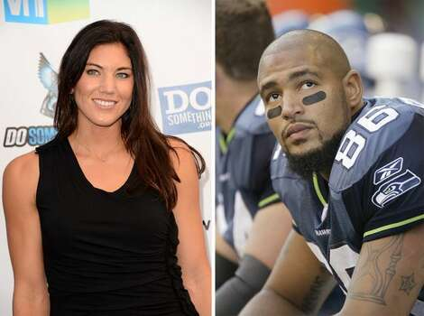On Nov. 13, 2012, Hope Solo married Jerramy Stevens, who played football in the University of Washington and later in the NFL. His was career marked by trouble with the law, including the day he married Solo. Photo: Getty Images